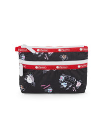Cosmetic Clutch, Line Friends, BTS Cosmetic Pouch, LeSportsac, Character print, BT21 Black Accessories