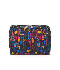XL Rectangular Cosmetic, Accessories and Cosmetic Bag, LeSportsac, Tolietry Bag, Adorn print