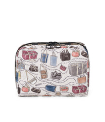 XL Rectangular Cosmetic, Accessories and Cosmetic Bag, LeSportsac, Tolietry Bag, LeSportsac History print