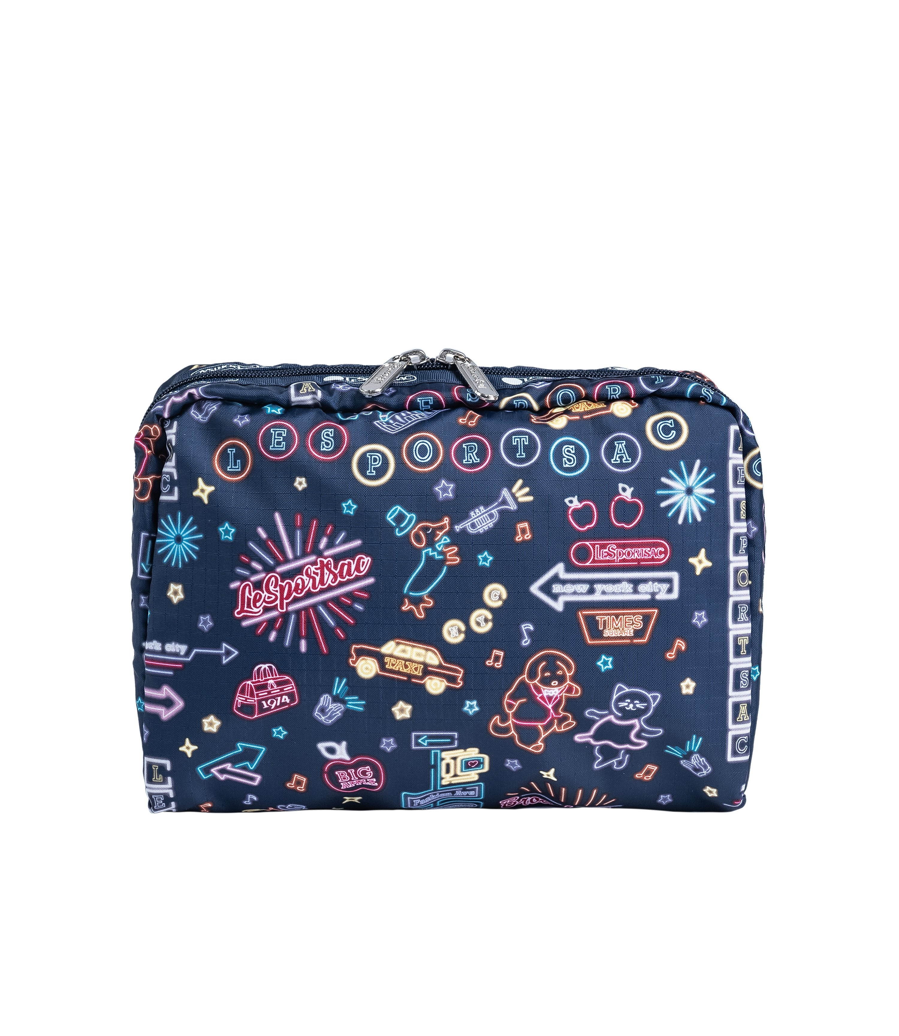 LeSportsac - Accessories - XL Rectangular Cosmetic - Neon Nights print