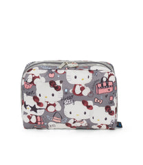 XL Rectangular Cosmetic, Accessories and Cosmetic Bag, LeSportsac, Tolietry Bag, Hello Kitty print