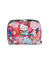 XL Rectangular Cosmetic, Accessories and Cosmetic Bag, LeSportsac, Tolietry Bag, Hello Kitty Collector print