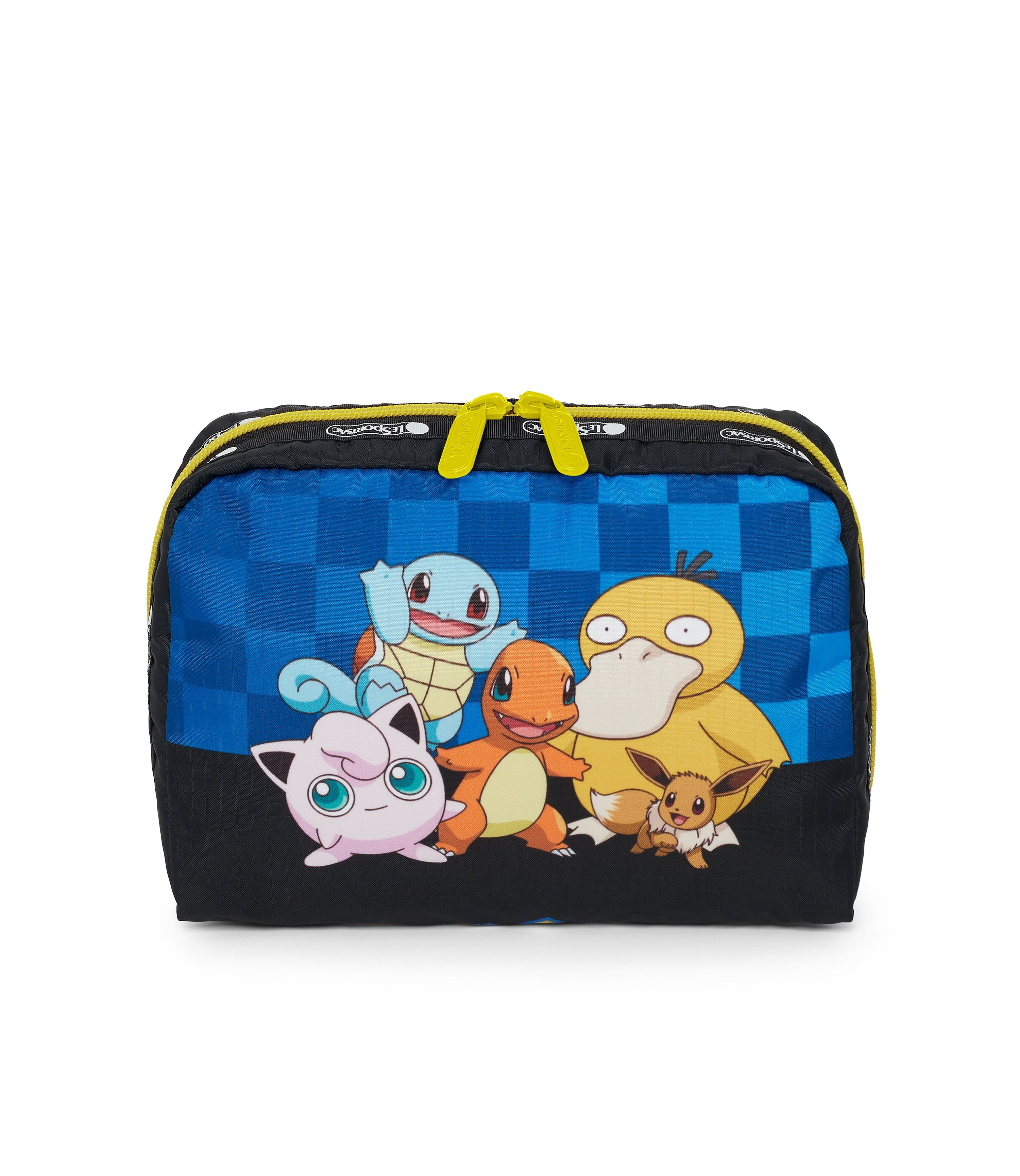 Pokémon XL Rectangular Cosmetic Bag- LeSportsac-Extra Large-Accessory-Charmander-Squirtle-Eevee-PsychDuck-Jigglypuff