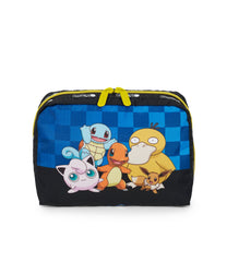 Pokemon - XL Rectangular Cosmetic - Accessories - Team Pokemon - Squirtle-Eevee-PsychDuck-Jigglypuff