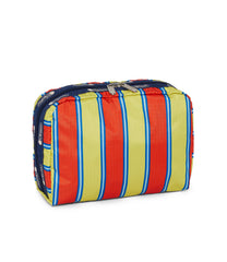 Dick Bruna - LeSportsac XL Rectangular Cosmetic - Accessory - Sunny Stripe Miffy -  Back View