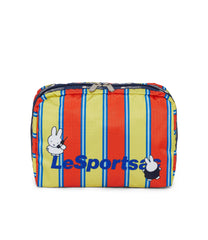 Dick Bruna - LeSportsac XL Rectangular Cosmetic - Accessory - Sunny Stripe Miffy -  Front View