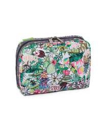 LeSportsac - XL Rectangular Cosmetic - Accessories - Exclusive! Aloha Market print - Back View