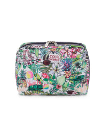 LeSportsac - XL Rectangular Cosmetic - Accessories - Hawaii - Exclusive! Aloha Market print - Front View