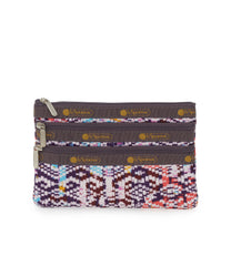 3-Zip Cosmetic, Accessories and Cosmetic Bag, LeSportsac, Tulum Sunrise print
