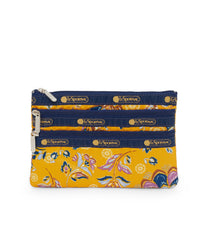 3-Zip Cosmetic, Accessories and Cosmetic Bag, LeSportsac, Golden print