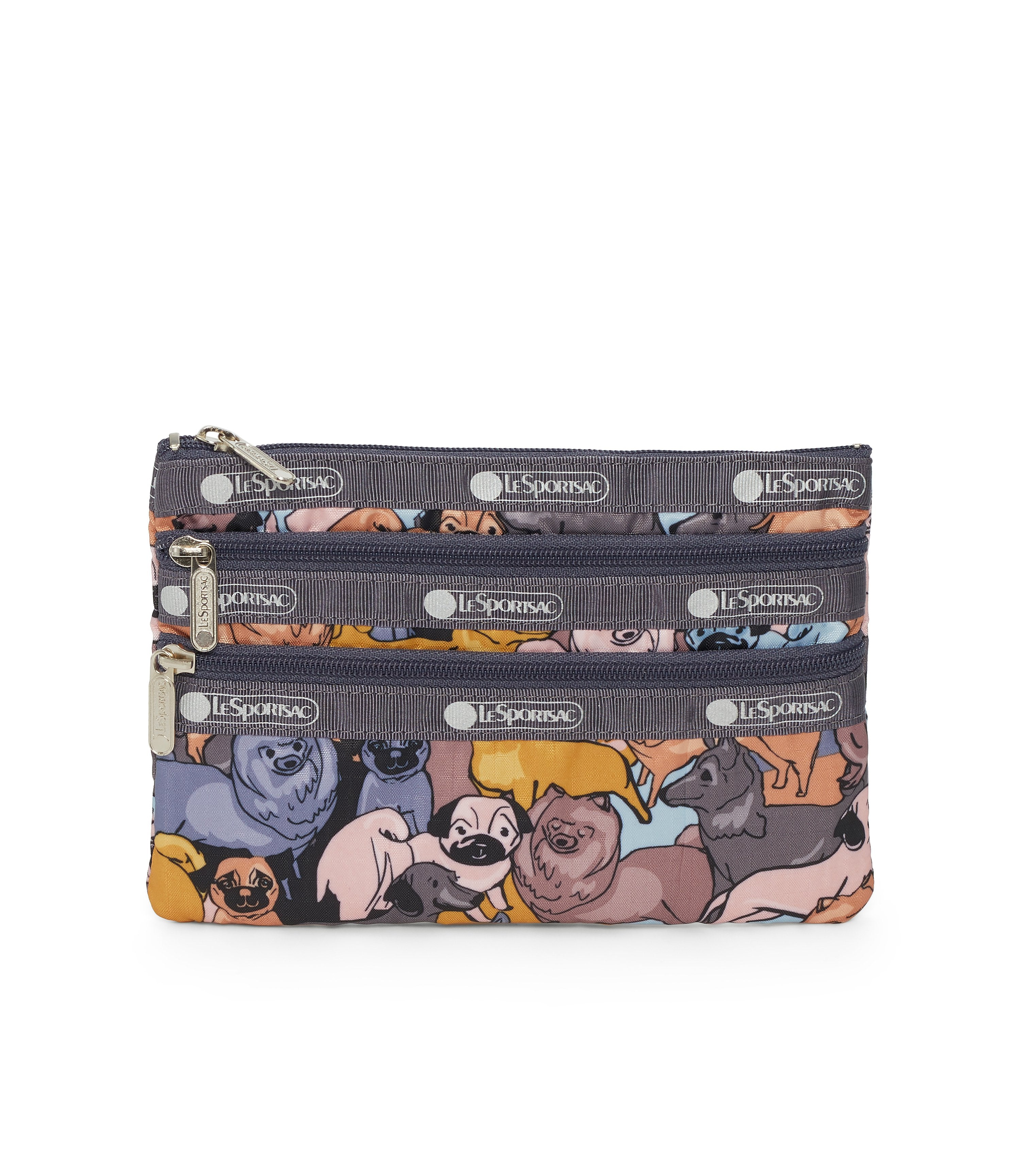3-Zip Cosmetic, Accessories and Cosmetic Bag, LeSportsac, Kon and Friends print
