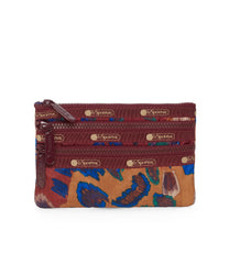 3-Zip Cosmetic, Accessories and Cosmetic Bag, LeSportsac, Cheetaaah print