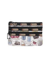 3-Zip Cosmetic, Accessories and Cosmetic Bag, LeSportsac, LeSportsac History print