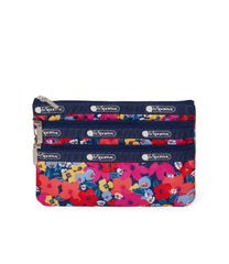 LeSportsac - 3-Zip Cosmetic - Accessories - Bright Isle Floral print