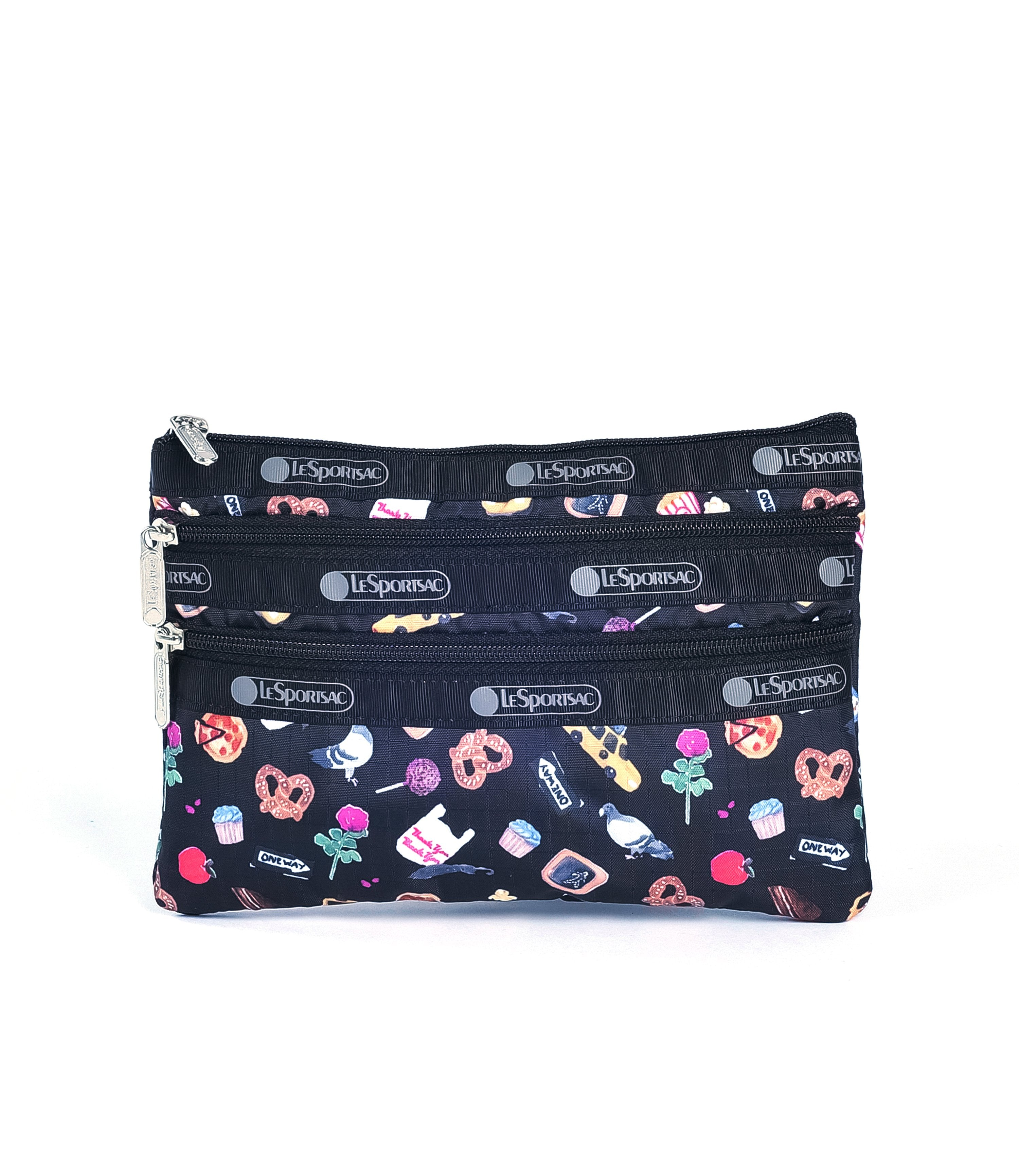 LeSportsac - 3-Zip Cosmetic - Accessories - Late Night Slice print