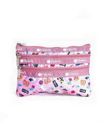 LeSportsac - 3-Zip Cosmetic - Accessories - City Slice print