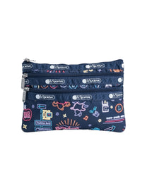 LeSportsac - Accessories - 3-Zip Cosmetic - Neon Nights print