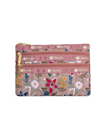 LeSportsac - Accessories - 3-Zip Cosmetic - Sketched Stars print