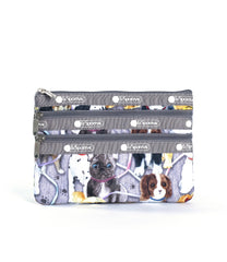 LeSportsac - 3-Zip Cosmetic - Accessories - Puppy Park print