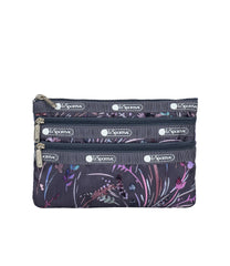 LeSportsac - Accessories - 3-Zip Cosmetic - Windswept Floral Shadow print