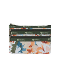 LeSportsac - Accessories - 3-Zip Cosmetic - Painterly Blooms print