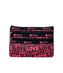 LeSportsac - Accessories - 3-Zip Cosmetic - Only Love print