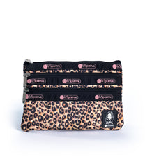 LeSportsac - 3-Zip Cosmetic - Accessories - Leopard Lane