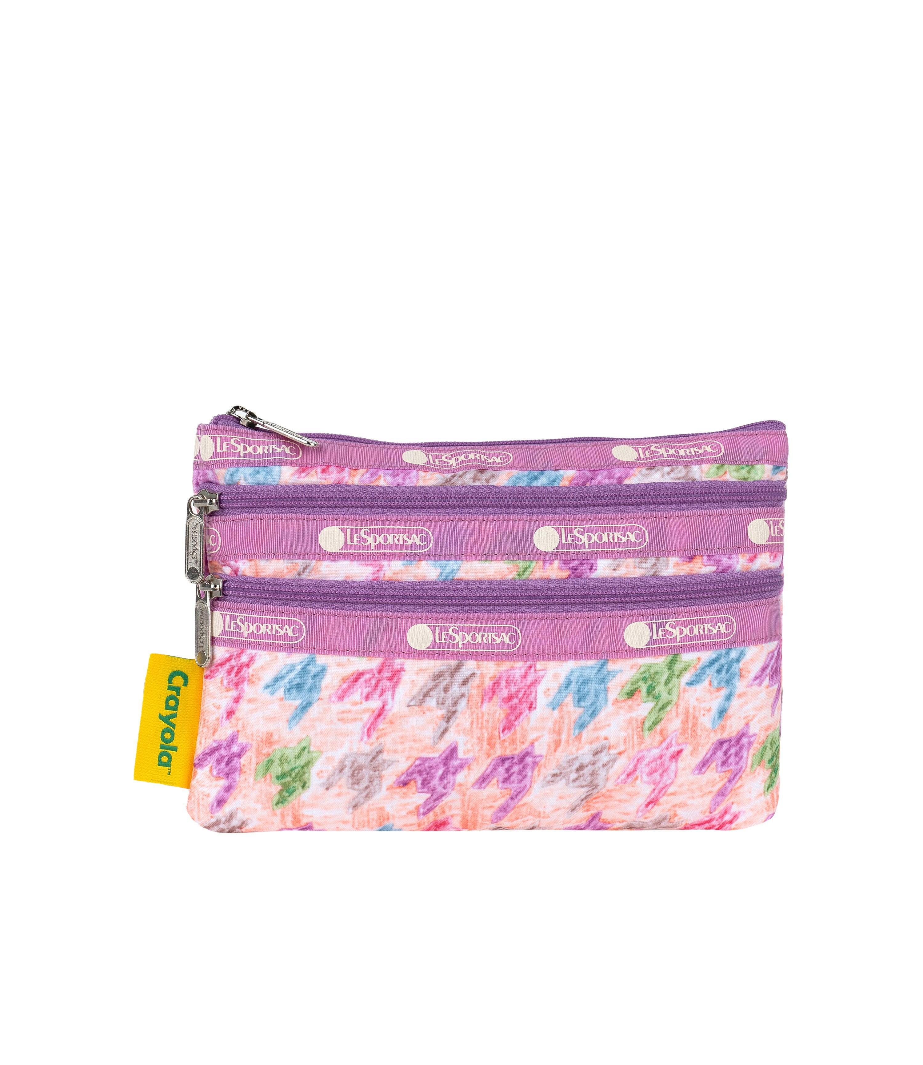 LeSportsac - Accessories - 3-Zip Cosmetic - Crayon Box Check