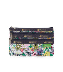 LeSportsac - 3 Zip Cosmetic - Accessories - Hawaii - Exclusive! Aloha Market print - Front View
