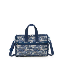 Medium Weekender Bags, Duffle Bags, Carry-on, LeSportsac, Camo Blues print