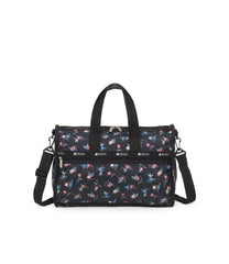 Medium Weekender Bags, Duffle Bags, LeSportsac, Zinnia Fields Black print