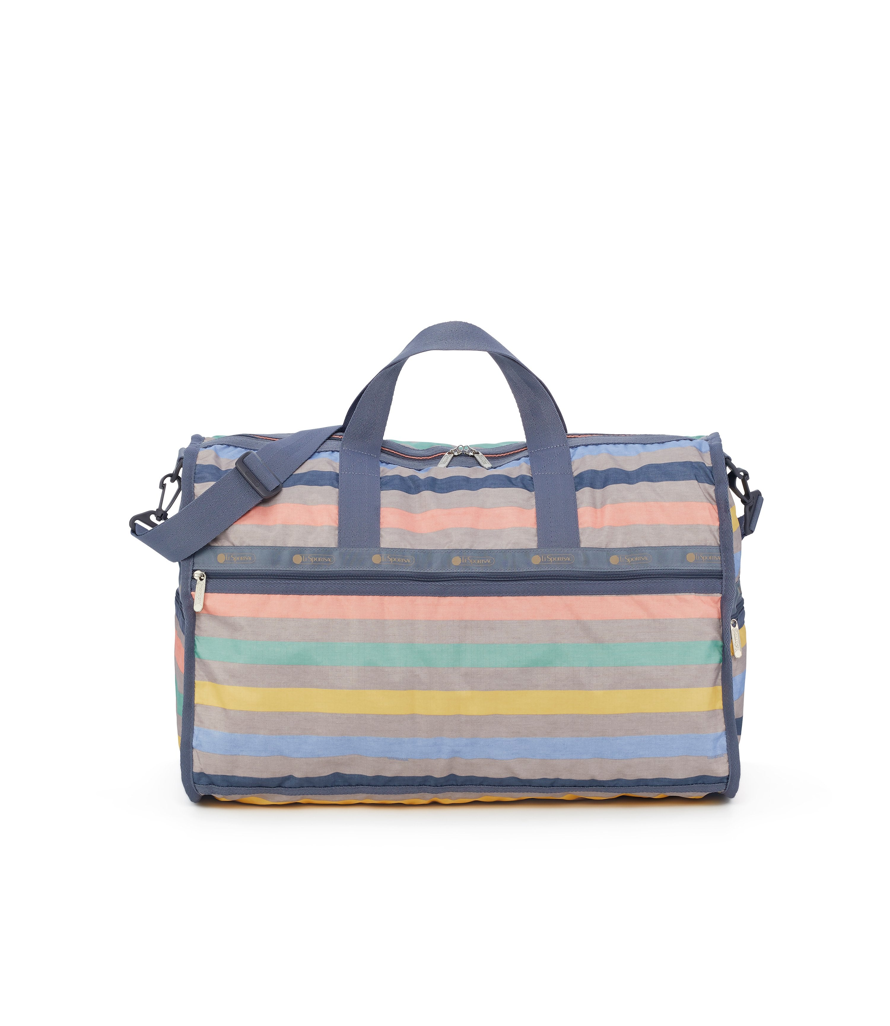 Large Weekender Bags, Duffle Bags, Carry-on, LeSportsac, Gazebo, Pastel stripe print