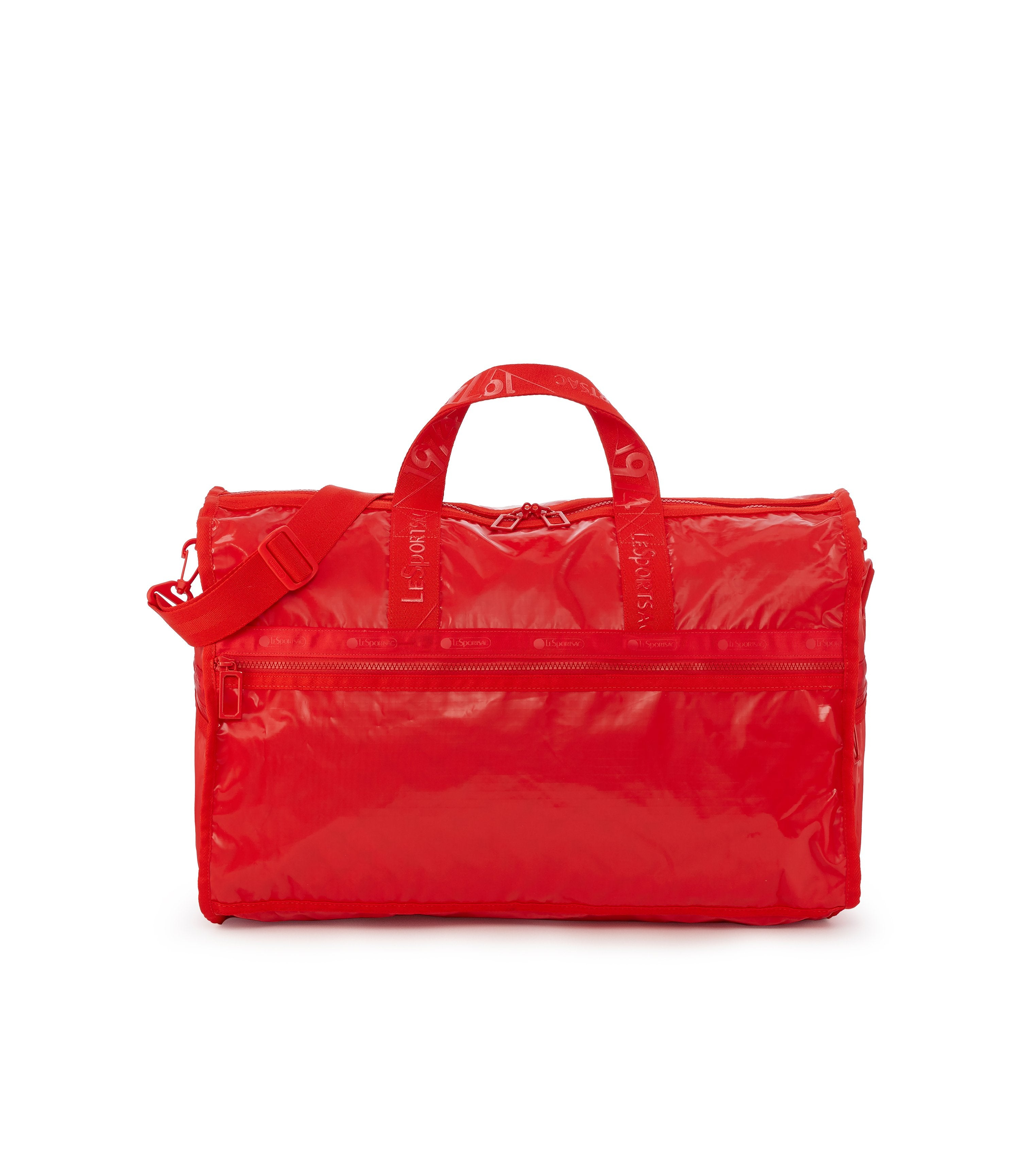 Large Weekender Bags, Duffle Bags, Carry-on, LeSportsac, Classic, Red Patent