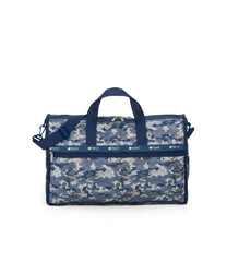 Large Weekender Bags, Duffle Bags, Carry-on, LeSportsac, Camo Blues print