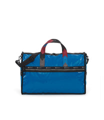 Large Weekender Bags, Duffle Bags, Carry-on, LeSportsac, Blue Arrow Liquid Patent