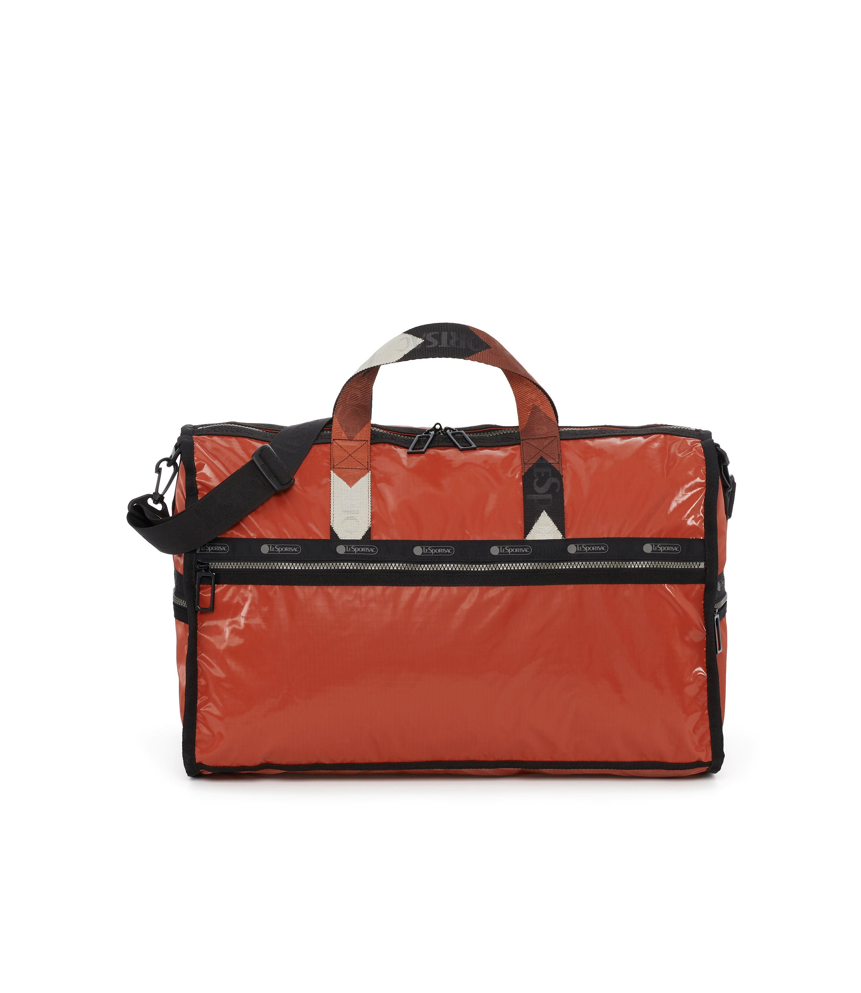 Large Weekender Bags, Duffle Bags, Carry-on, LeSportsac, Cinnabar Arrow Liquid Patent