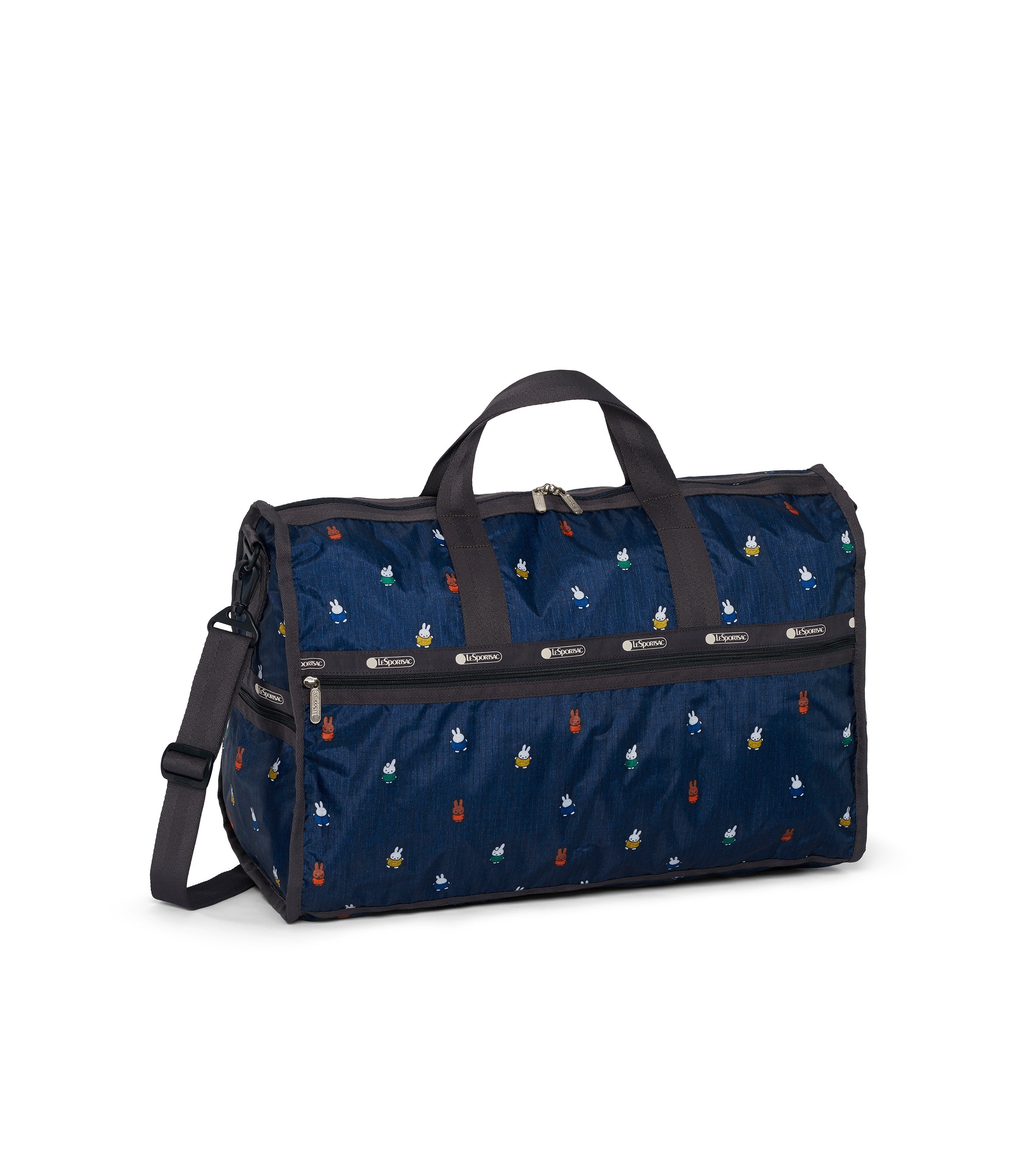 Dick Bruna - LeSportsac Large Weekender - Duffle - Miffy and Friends - Navy -  Back View