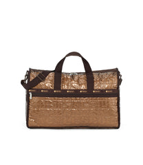 Large Weekender Bags, Duffle Bags, Carry-on, LeSportsac, Copper Foil solid, Sale, 65% Off