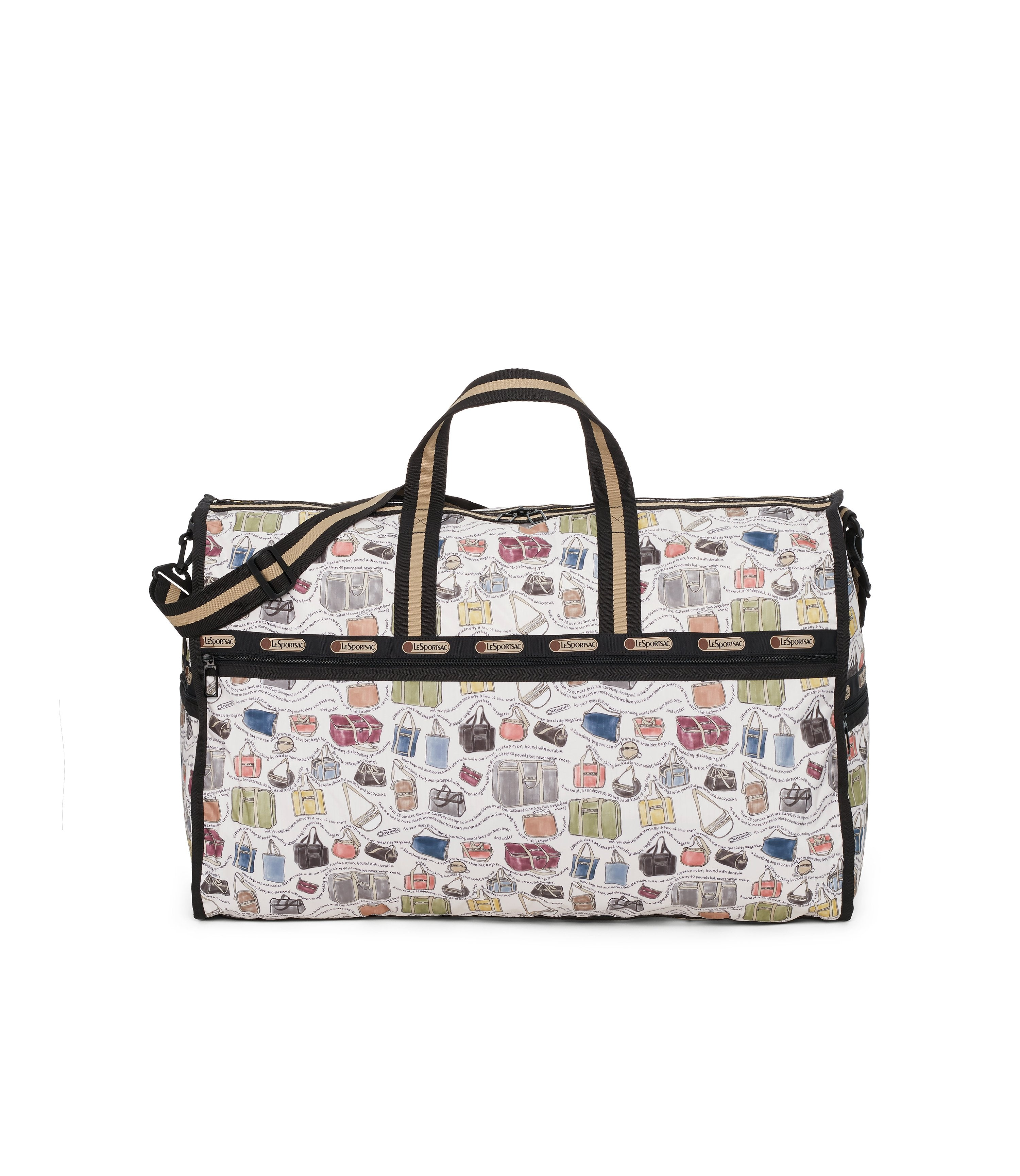 Extra Large Weekender Bags, Duffle Bags, LeSportsac, LeSportsac History print