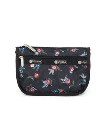 Travel Cosmetic, Accessories, Makeup and Cosmetic Bags, LeSportsac, Zinnia Fields Black print