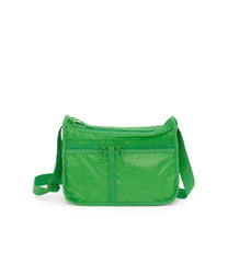 Deluxe Everyday Bag, Nylon Handbags and Classic Purses, Expandable, Crossbody, Green Patent