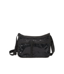 Deluxe Everyday Bag, Nylon Handbags and Classic Purses, Expandable, Crossbody, Heritage Black Patent, jacquard webbing