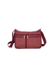 Deluxe Everyday Bag, Nylon Handbags and Classic Purses, Expandable, Crossbody, Heritage Rouge
