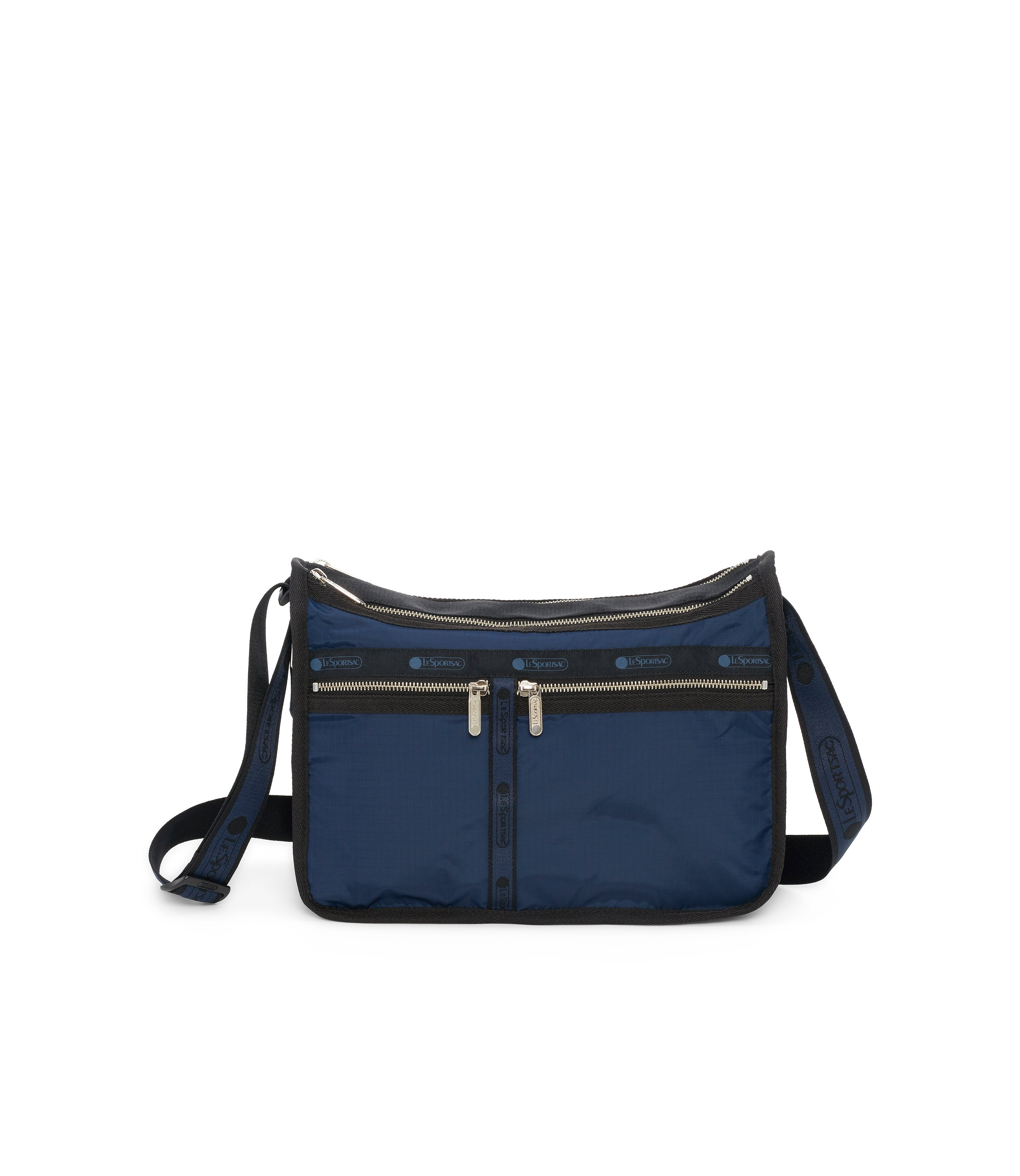 Deluxe Everyday Bag, Nylon Handbags and Classic Purses, Expandable, Crossbody, Heritage Navy