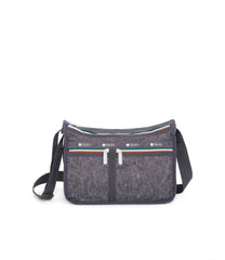 Deluxe Everyday Bag, Nylon Handbags and Classic Purses, Expandable, Crossbody, Sporty Denim print