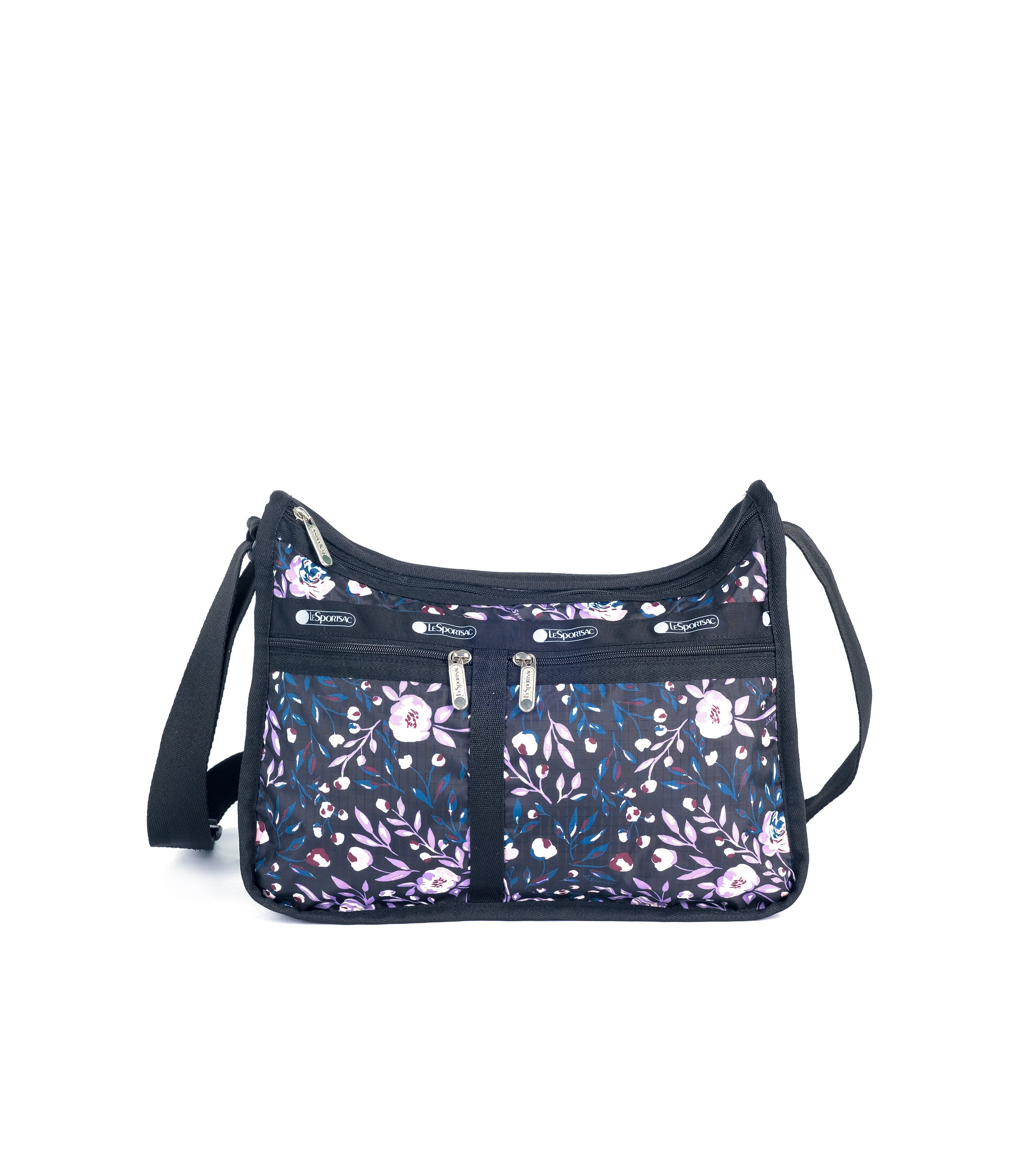LeSportsac - Deluxe Everyday Bag - Handbags - Dancing Roses Noir print