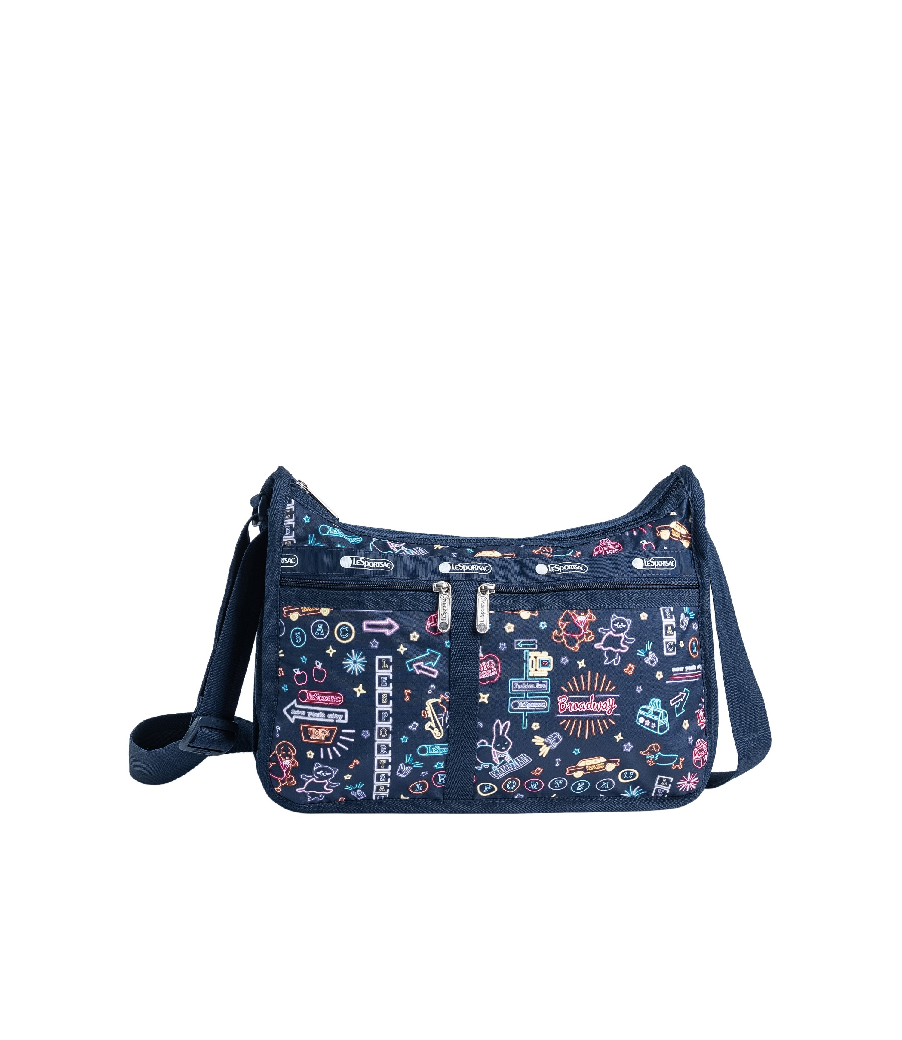 LeSportsac - Handbags - Deluxe Everyday Bag - Neon Nights print