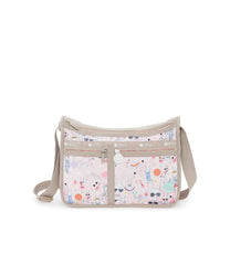 Deluxe Everyday Bag, Nylon Handbags and Classic Purses, Expandable, Crossbody, Fifi Pool Party print