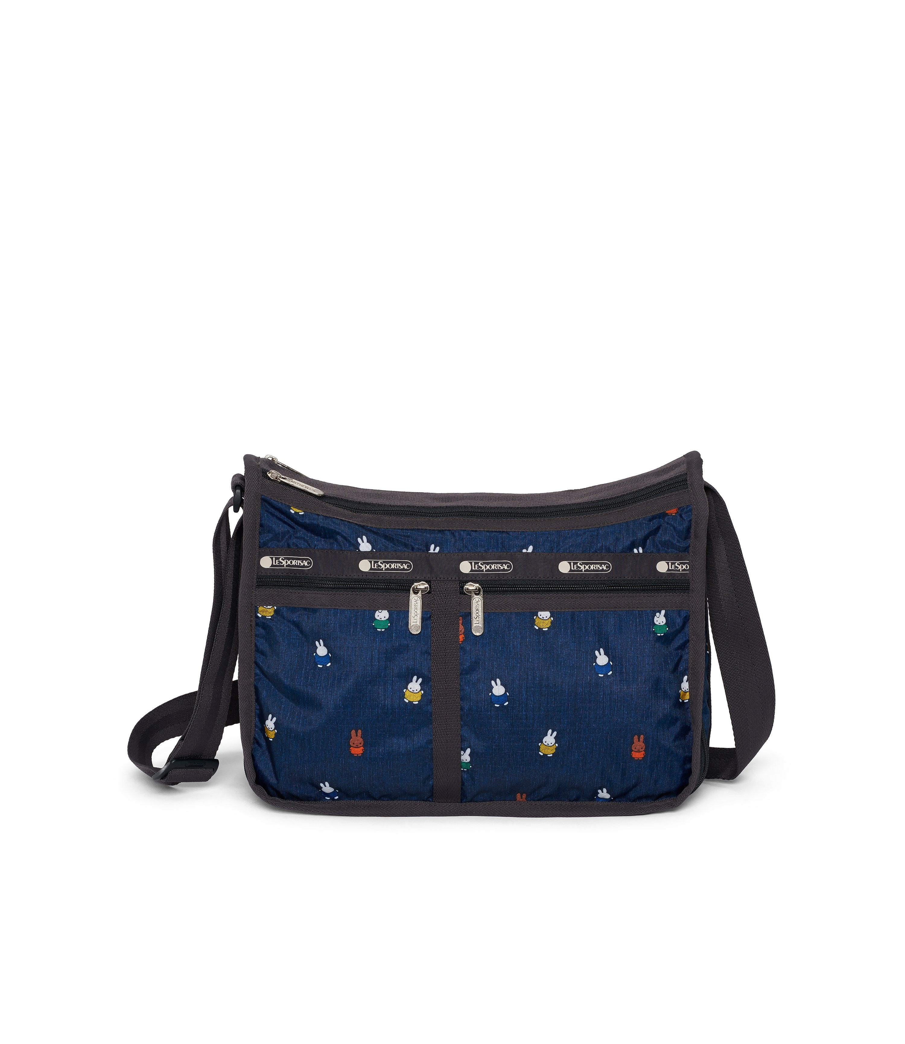 Dick Bruna - LeSportsac Deluxe Everyday Bag - Handbag - Miffy and Friends - Navy -  Front View