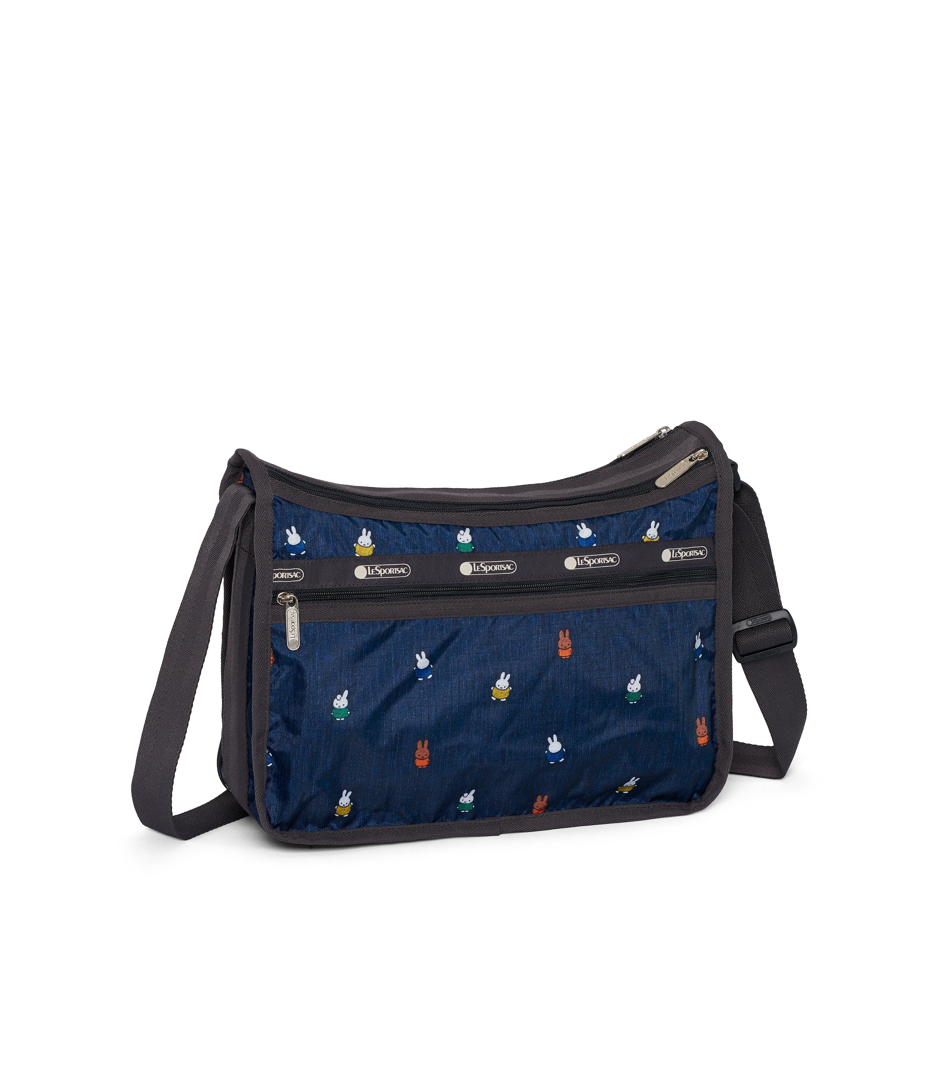 Dick Bruna - LeSportsac Deluxe Everyday Bag - Handbag - Miffy and Friends - Navy -  Back VIew
